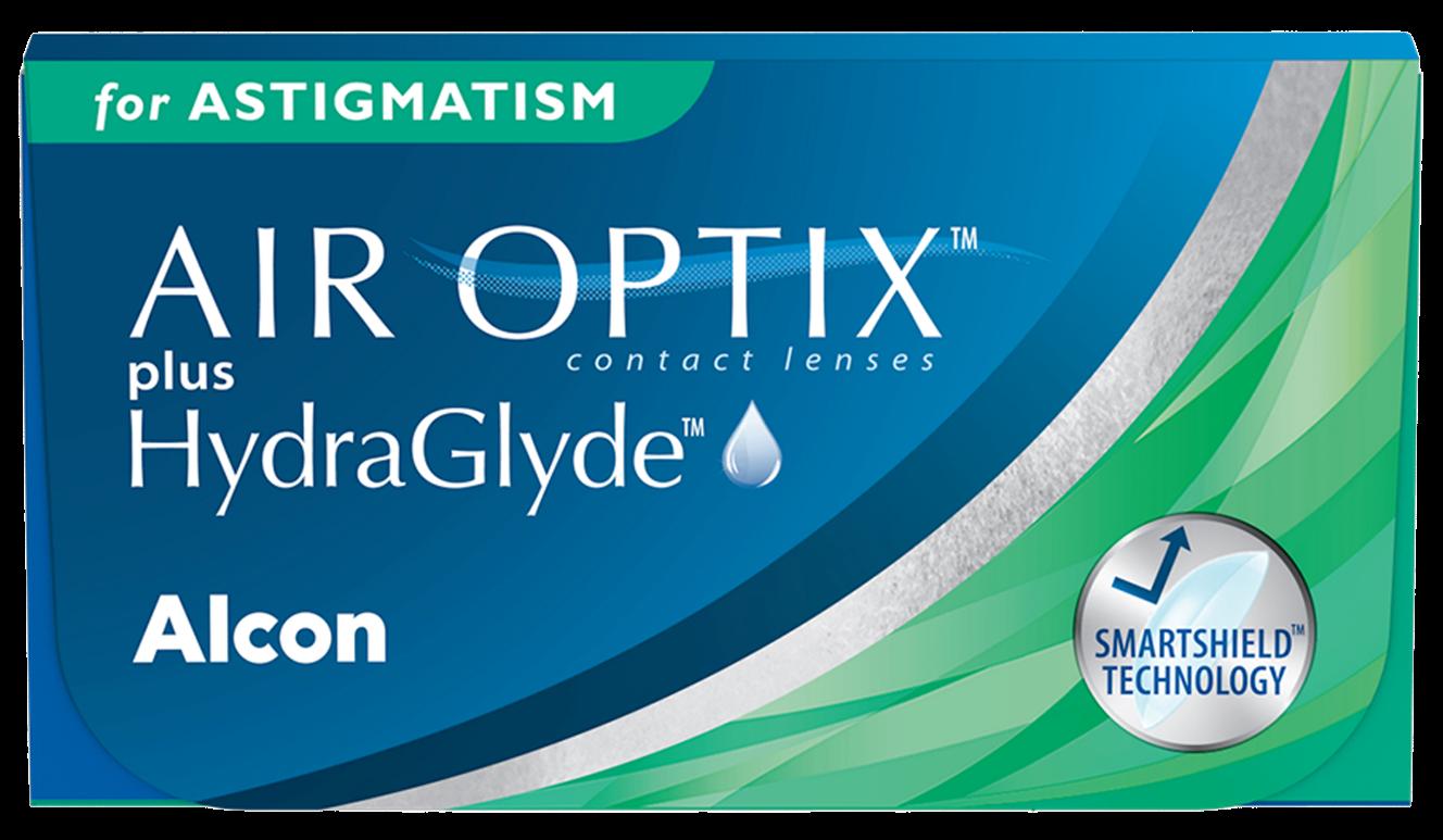 Front Air Optix Plus Hydraglyde for Astigmatism
