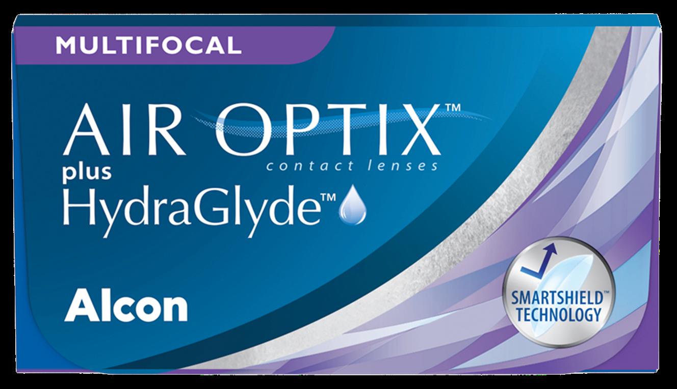 Front Air Optix Plus Hydraglyde Multifocaal