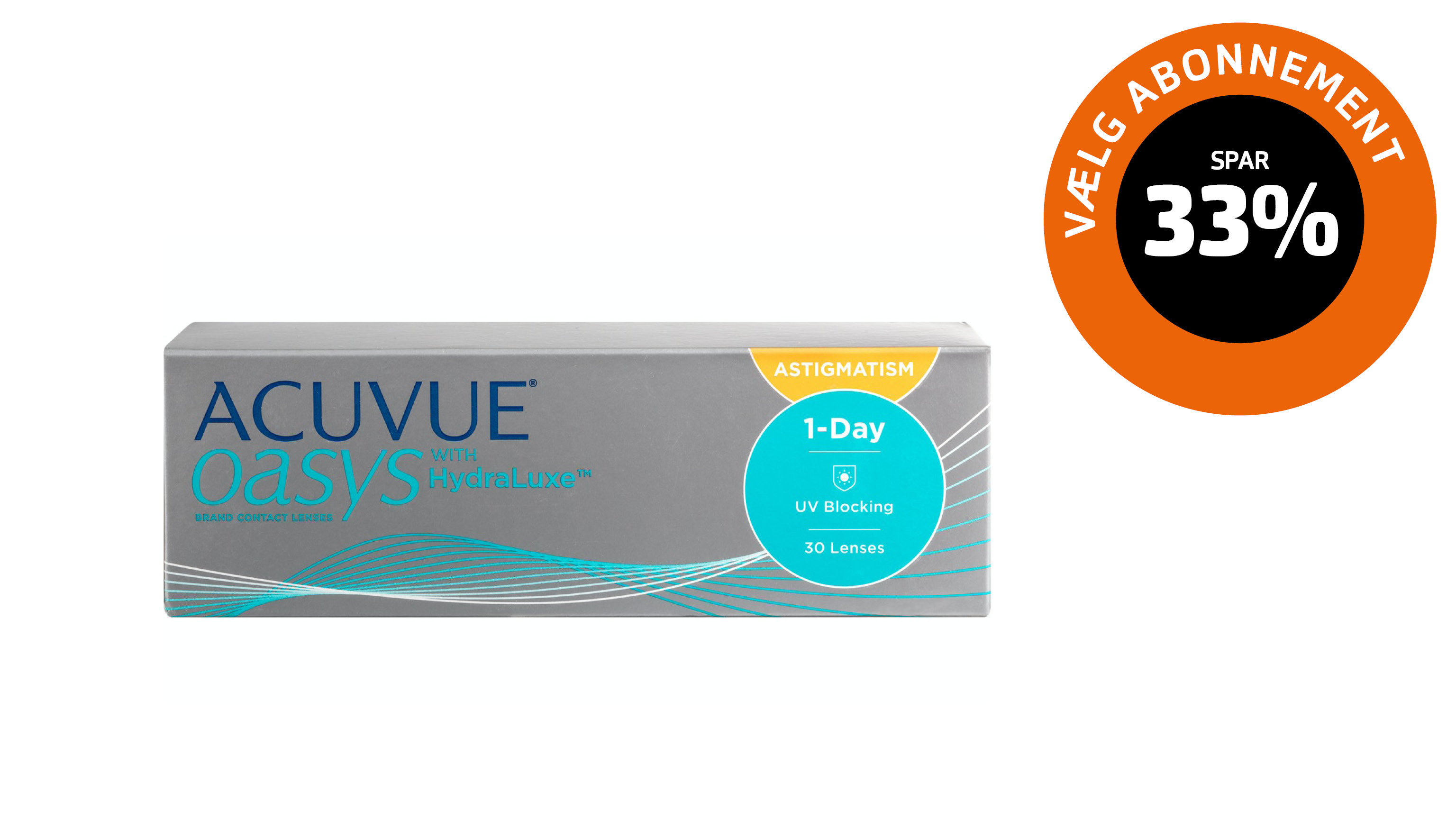 Front 1-Day ACUVUE® Oasys for astigmatism