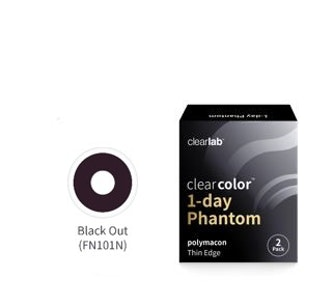 Clear Color 1 Day Black Out