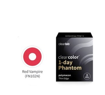 Clear Color 1 Day Red Vampire