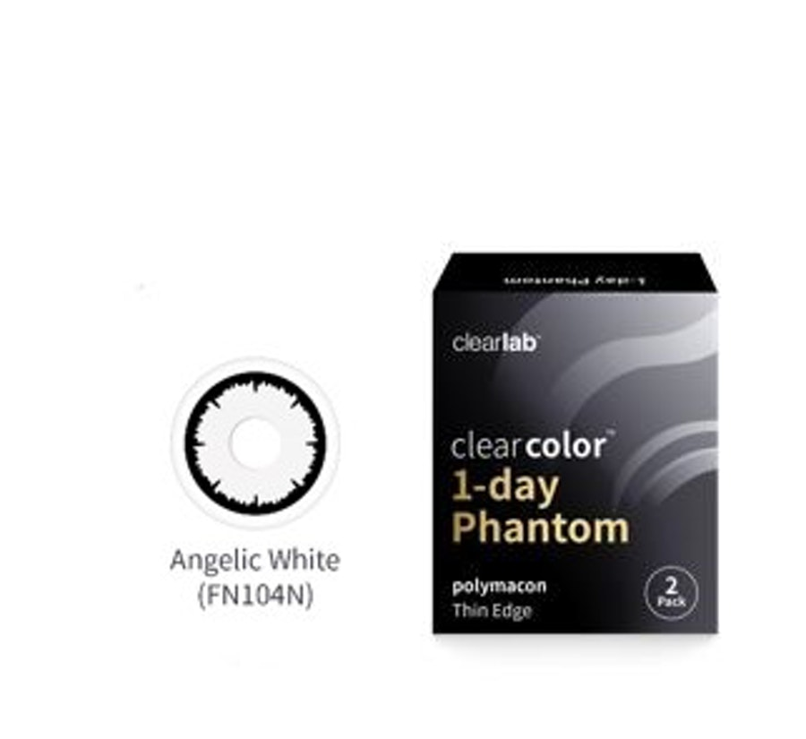 Clear Color 1 Day Blanca con aro negro