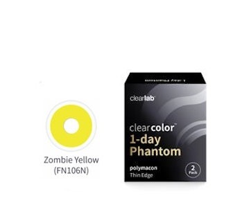 Clear Color 1 Day Zombie Yellow
