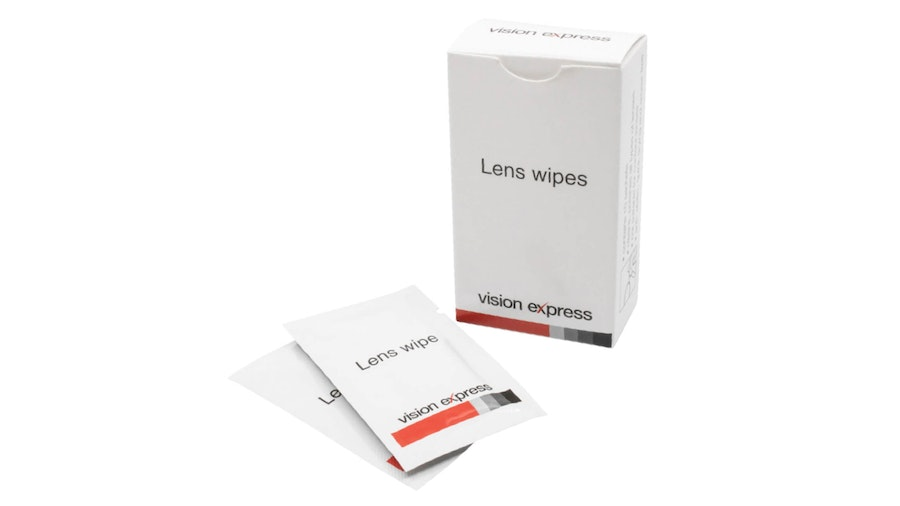 Vision Express Glasses Lens Cleaning Wipes 10 Pack