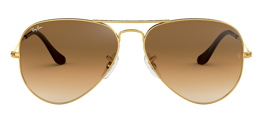 Ray-Ban Aviator RB3025 Unisex Sunglasses Brown/Gold