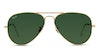 Ray-Ban Aviator RB 3025 Men's Sunglasses Black/Gold