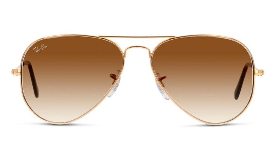 Ray-Ban Aviator RB 3025 Men's Sunglasses Brown/Gold
