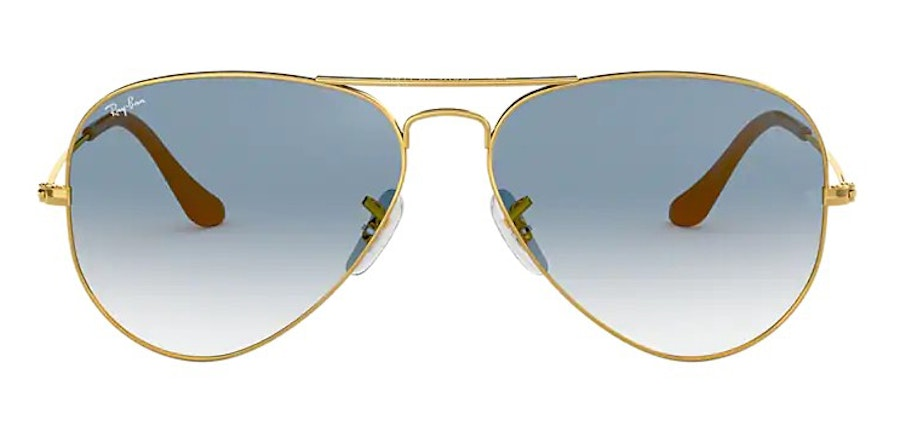 Ray-Ban Aviator RB 3025 Men's Sunglasses Blue/Gold