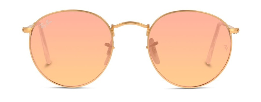 Ray-Ban Round Metal RB 3447 Men's Sunglasses Pink/Gold