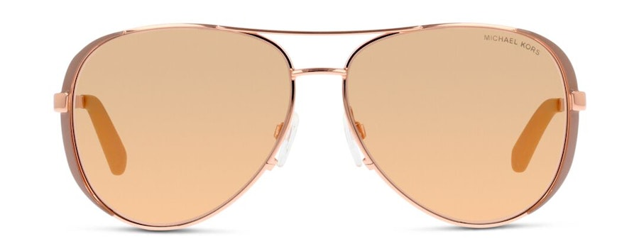 Michael Kors MK 5004 Women's Sunglasses Brown/Rose Gold