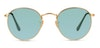 Ray-Ban Round RB3447 Unisex Sunglasses Silver/Gold