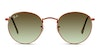 Ray-Ban Round Metal RB 3447 Men's Sunglasses Green/Bronze
