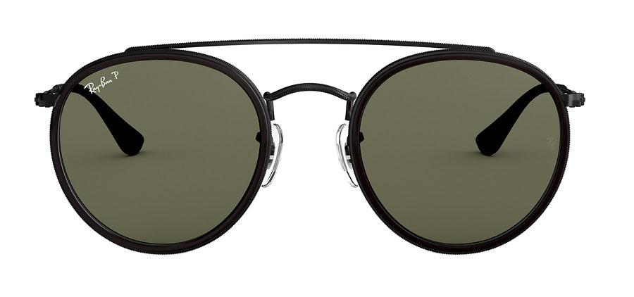 Ray-Ban Round Double Bridge RB3647 Unisex Sunglasses Green/Black