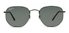 Ray-Ban Hexagonal RB 3548N Men's Sunglasses Green/Black