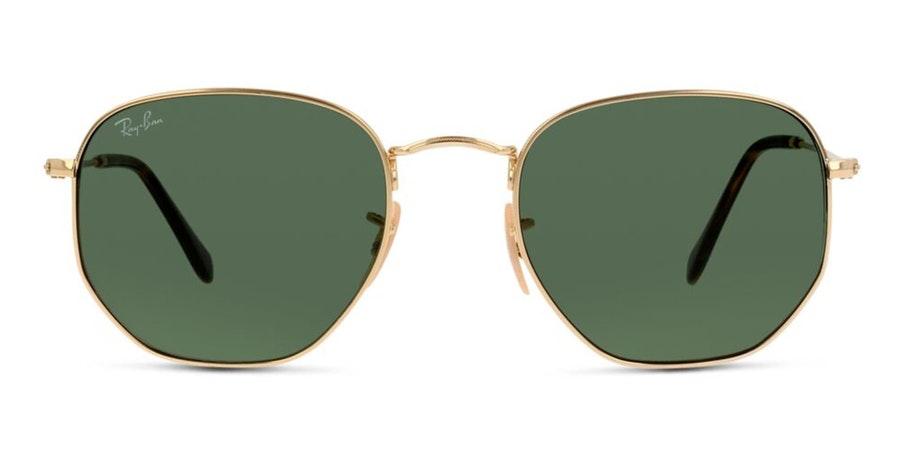Ray-Ban Hexagonal RB 3548N Men's Sunglasses Green/Gold