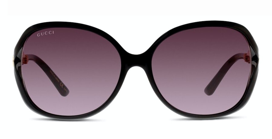 Gucci GG 0076S Women's Sunglasses Grey/Black