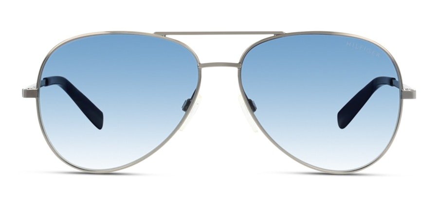Tommy Hilfiger TH 1571/S Unisex Sunglasses Blue/Silver