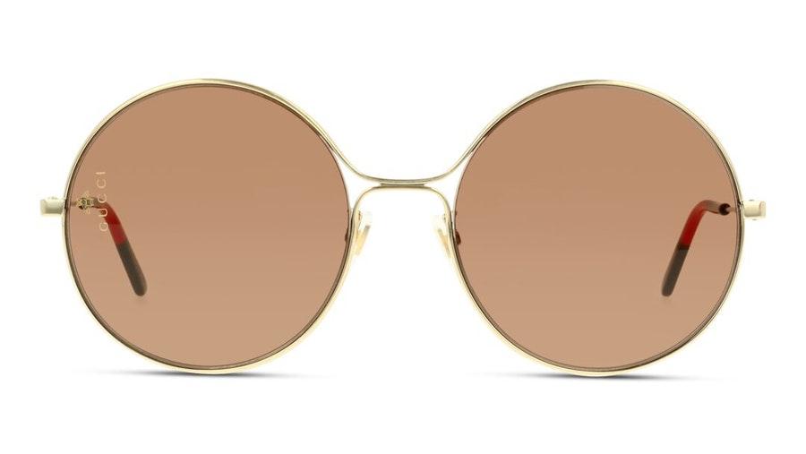 Gucci GG 0395S Women's Sunglasses Brown/Gold