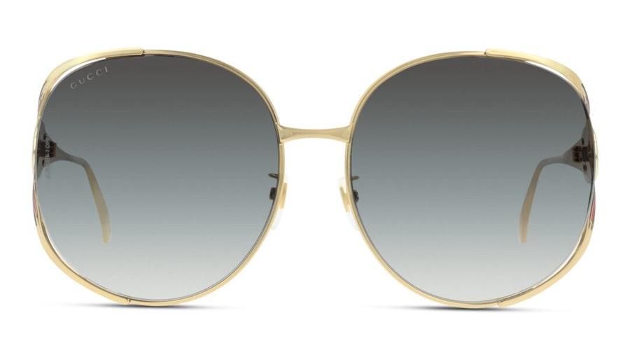 Gucci GG 0225S Women's Sunglasses Grey/Gold