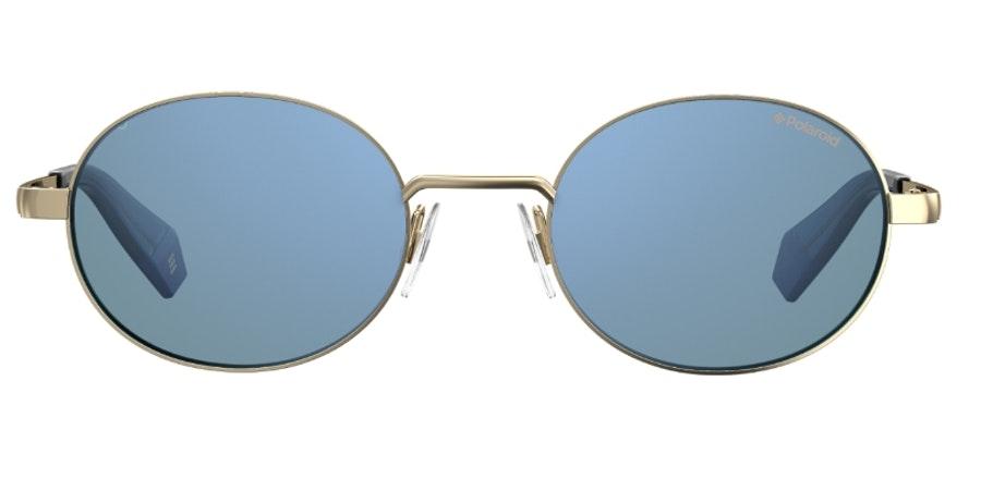 Polaroid Oval Pop PLD 6066/S Unisex Sunglasses Blue/Gold