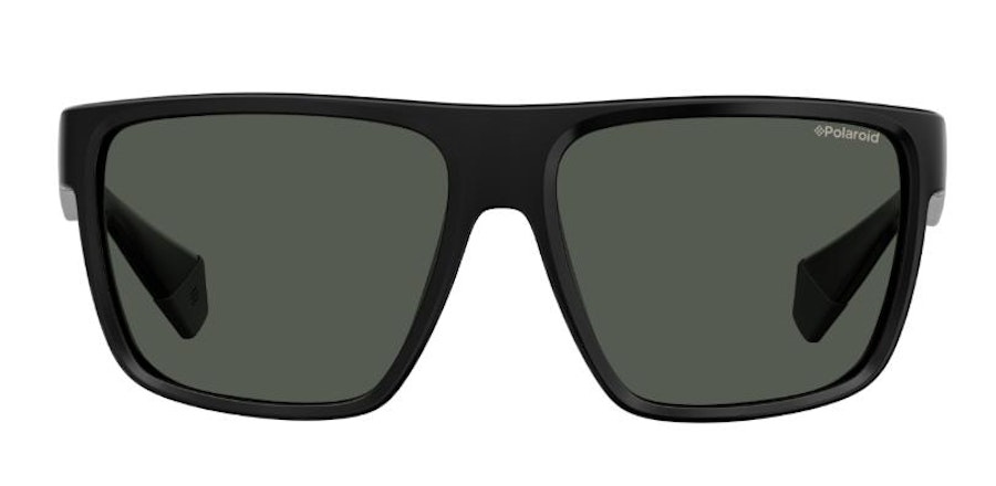 Polaroid Flat-Top Squared PLD 6076/S Men's Sunglasses Grey/Black