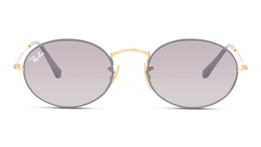 Ray-Ban Oval RB 3547 Unisex Sunglasses Grey/Gold