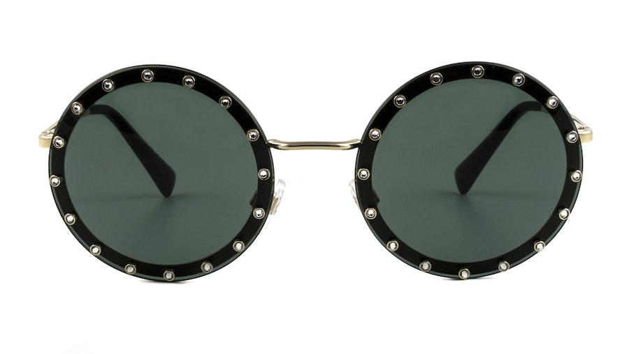 Valentino VA 2010B Women's Sunglasses Green/Gold