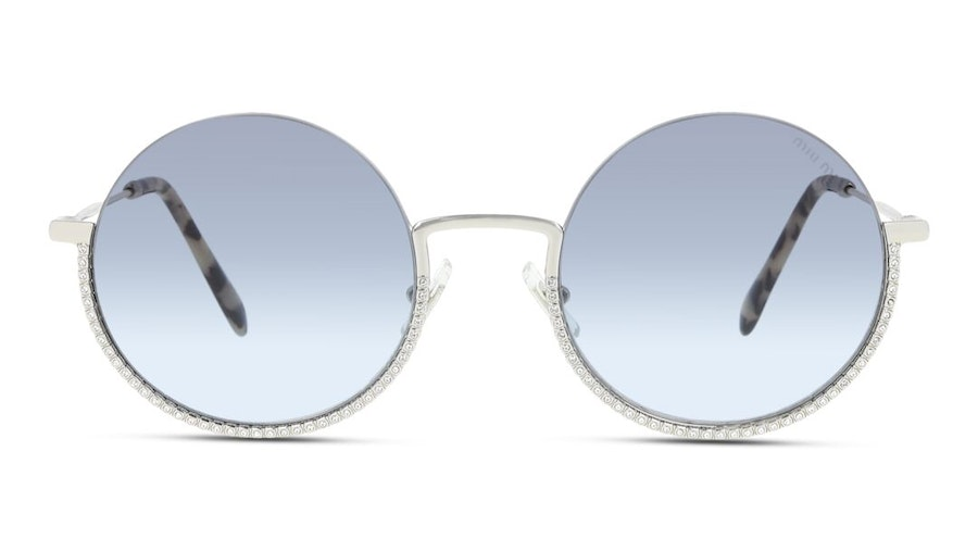 Miu Miu MU 69US Women's Sunglasses Blue/Silver