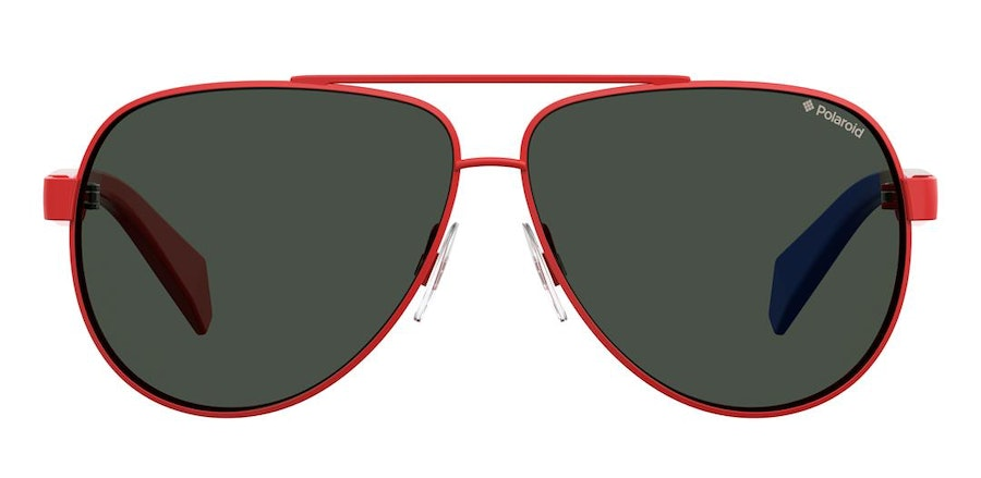 Polaroid Kids PLD 8034/S Children's Sunglasses Grey/Red
