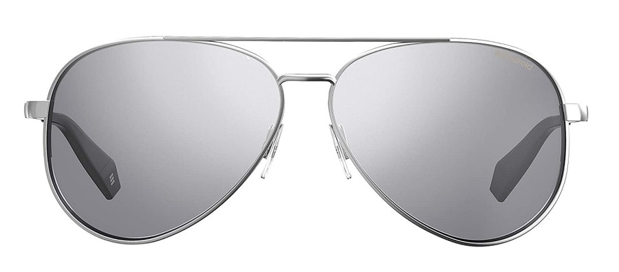 Polaroid Mirrored Aviator PLD 6069/S Women's Sunglasses Silver/Silver