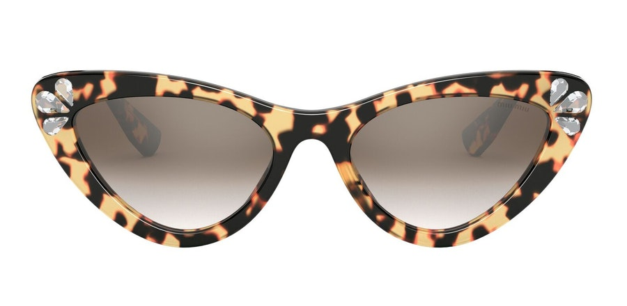 Miu Miu MU 01VS Women's Sunglasses Brown/Tortoise Shell