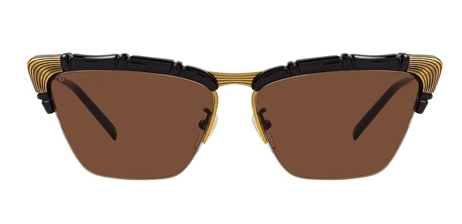 Gucci GG 0660S Women's Sunglasses Brown/Black