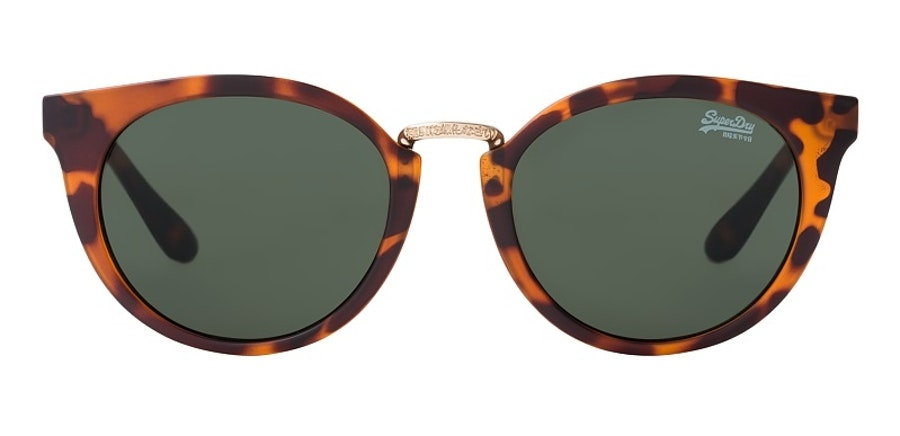 Superdry Girlfriend SDS 102 (102) Sunglasses Green / Tortoise Shell