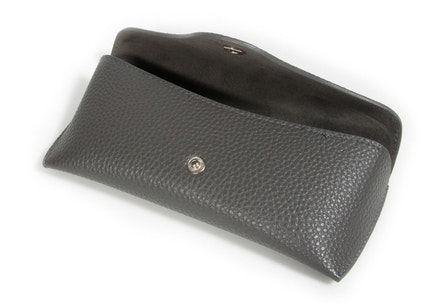 Classic Vegan Leather Envelope Case -  Charcoal Charcoal