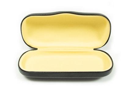 Large Classic Vegan Leather Everyday Case -  Black Black