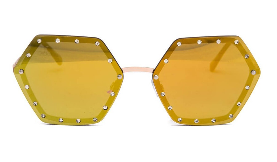 Jeepers Peepers JP 18532 Women's Sunglasses Green / Gold