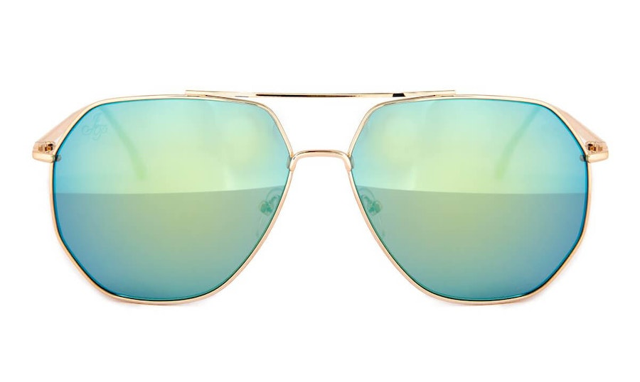 Jeepers Peepers JP 18591 Unisex Sunglasses Green / Gold