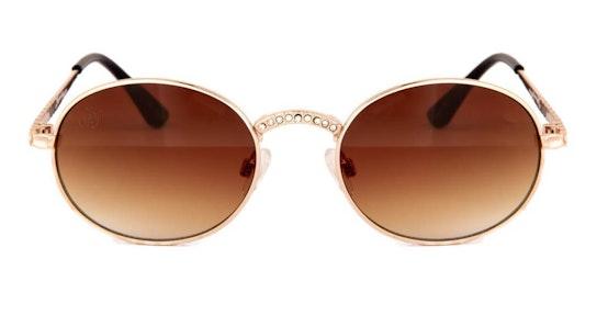 JP 18607 Unisex Sunglasses Brown / Gold