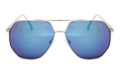 JP 18611 Unisex Sunglasses Blue / Silver
