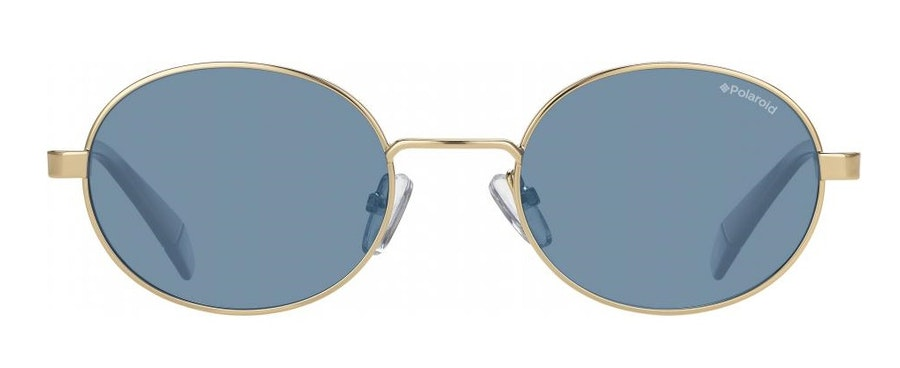 Love Island x Polaroid Oval Pop PLD 6066/S Unisex Sunglasses Blue/Gold