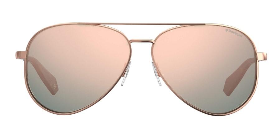 Love Island x Polaroid Mirrored Aviator PLD 6069/S Women's Sunglasses Pink/Rose Gold