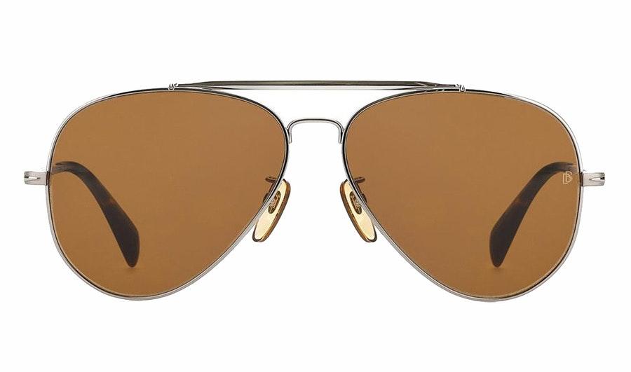David Beckham Eyewear DB 1004/S Men's Sunglasses Brown/Silver
