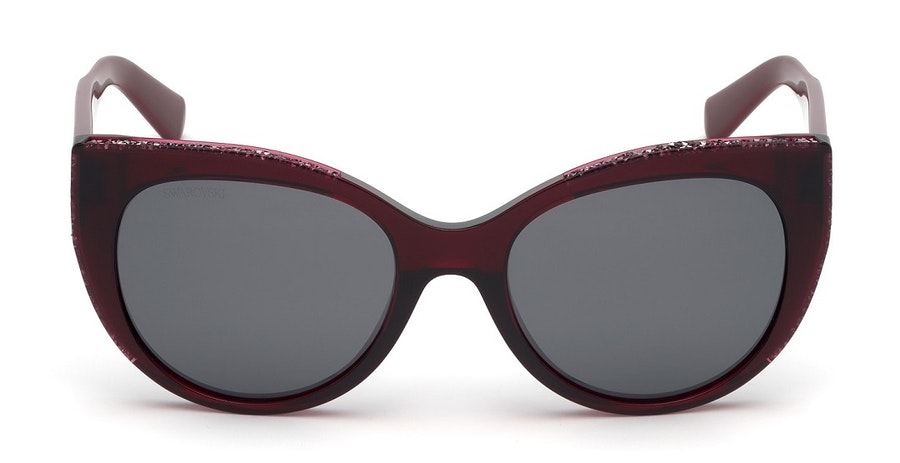 Swarovski SK 0202 Women's Sunglasses Grey/Red