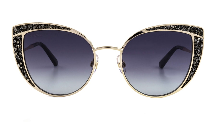 Swarovski SK 0282 Women's Sunglasses Grey/Gold