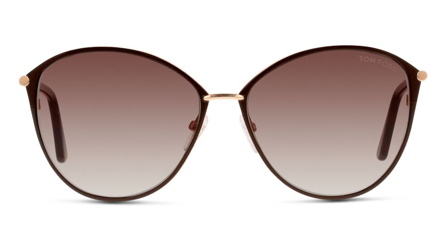 Tom Ford Penelope FT 320 (28F) Sunglasses Brown / Brown