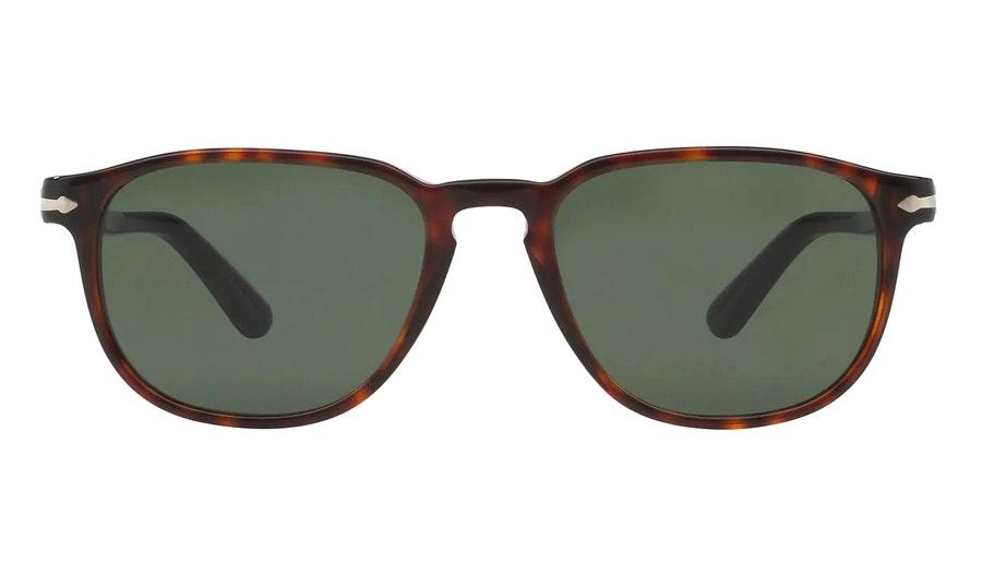 Persol PO 3019S (24/31) Sunglasses Green / Tortoise Shell