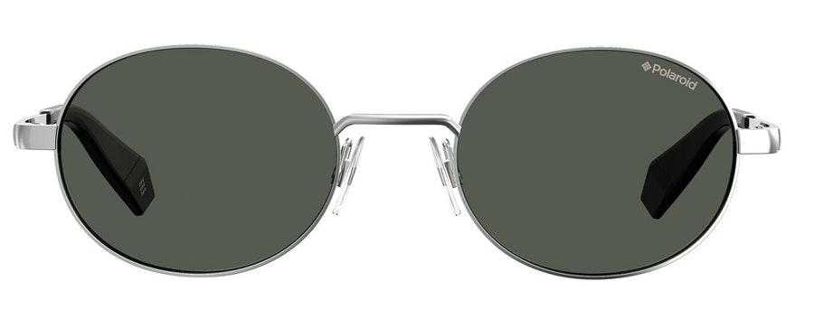Polaroid Oval Pop PLD 6066/S Unisex Sunglasses Grey / Silver