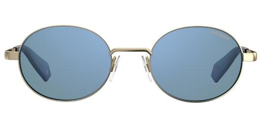 Oval Pop PLD 6066/S Unisex Sunglasses Blue / Gold