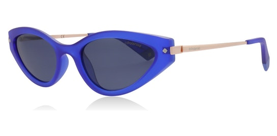 Sleek Cat-Eye PLD 4074/S Women's Sunglasses Grey / Blue
