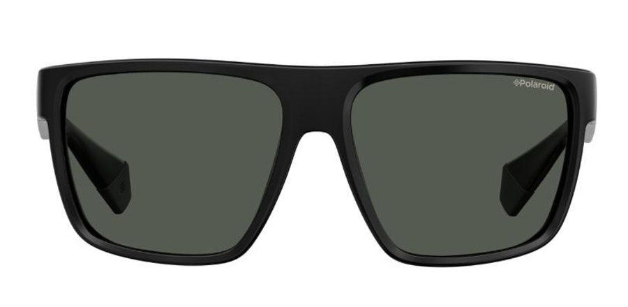 Polaroid Flat-Top Squared PLD 6076/S (807) Sunglasses Grey / Black